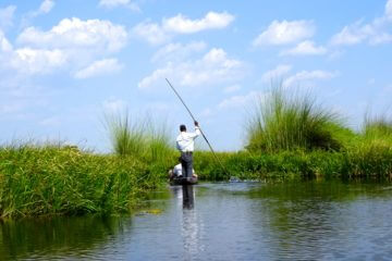 Maun, Mokoro im Okavango-Delta