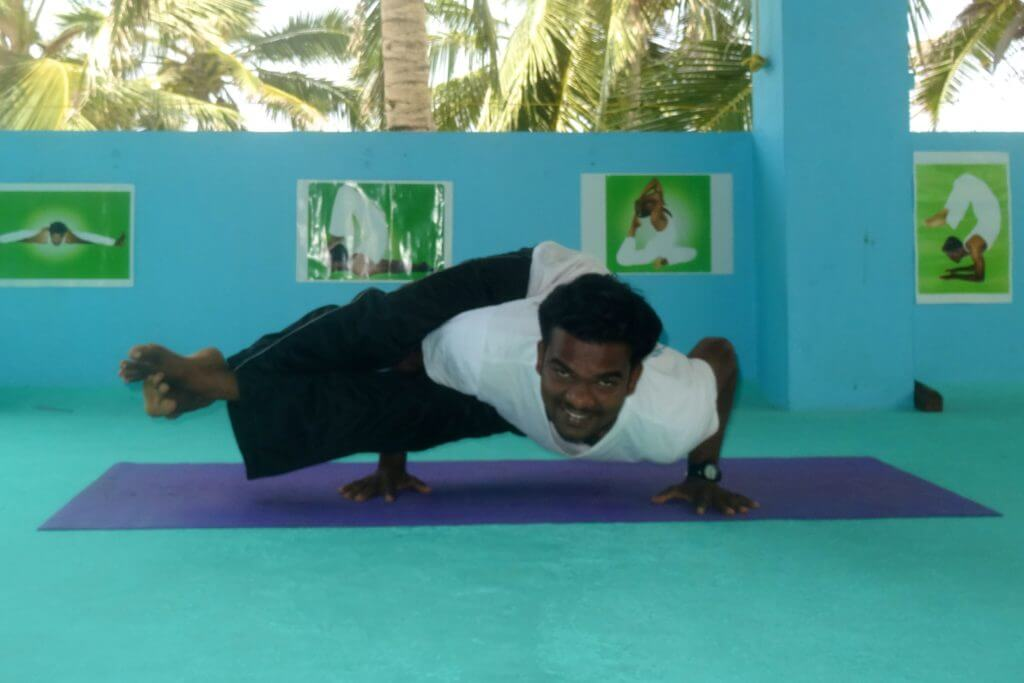 Prem Kumar, sympathischer Yogalehrer in Kovalam