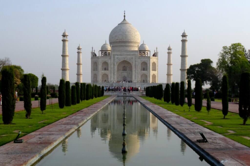 Taj Mahal, die bekannteste Perspektive