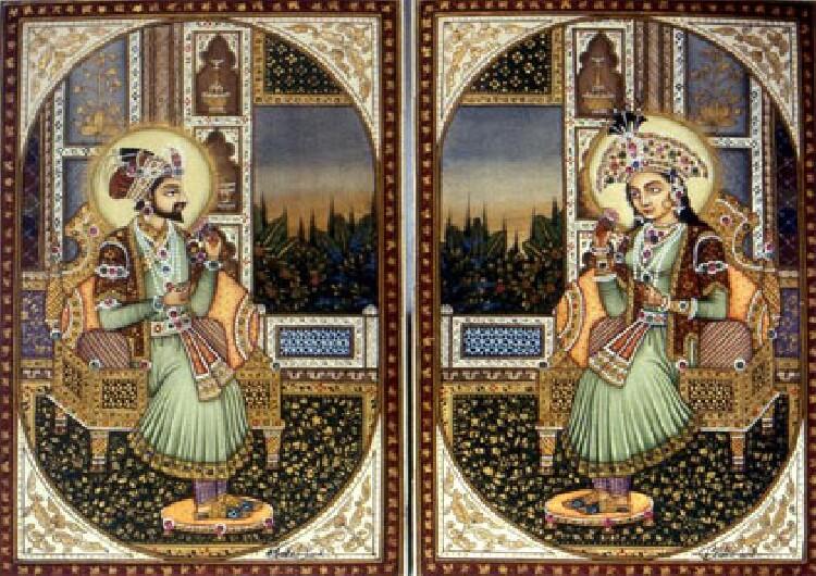 Shah Jahan und seine Frau Mumtaz Mahal