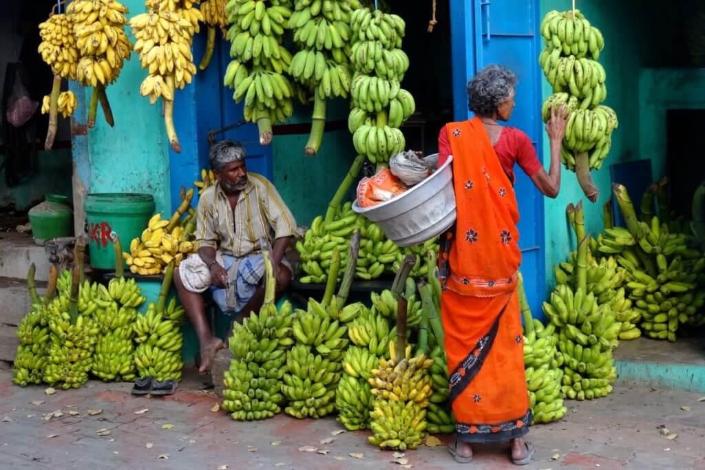 Kultur in Indien: Impressionen vom Bananenmarkt in Madurai