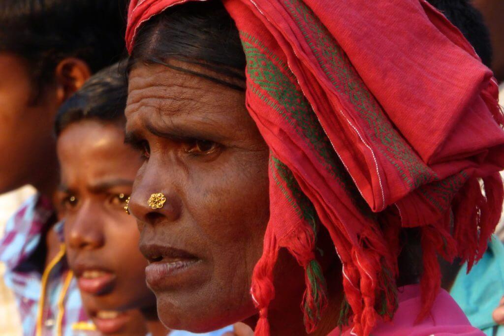 Adivasi-Frau im Bastar Distrikt in Chhattisgarh