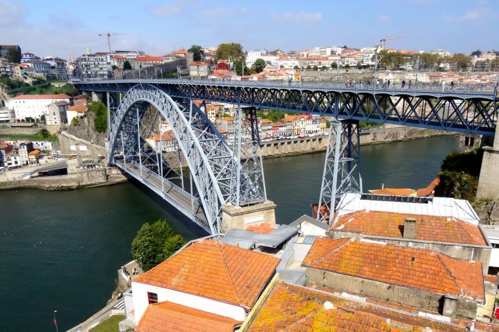 Brücke Ponte Dom Luís I in Porto