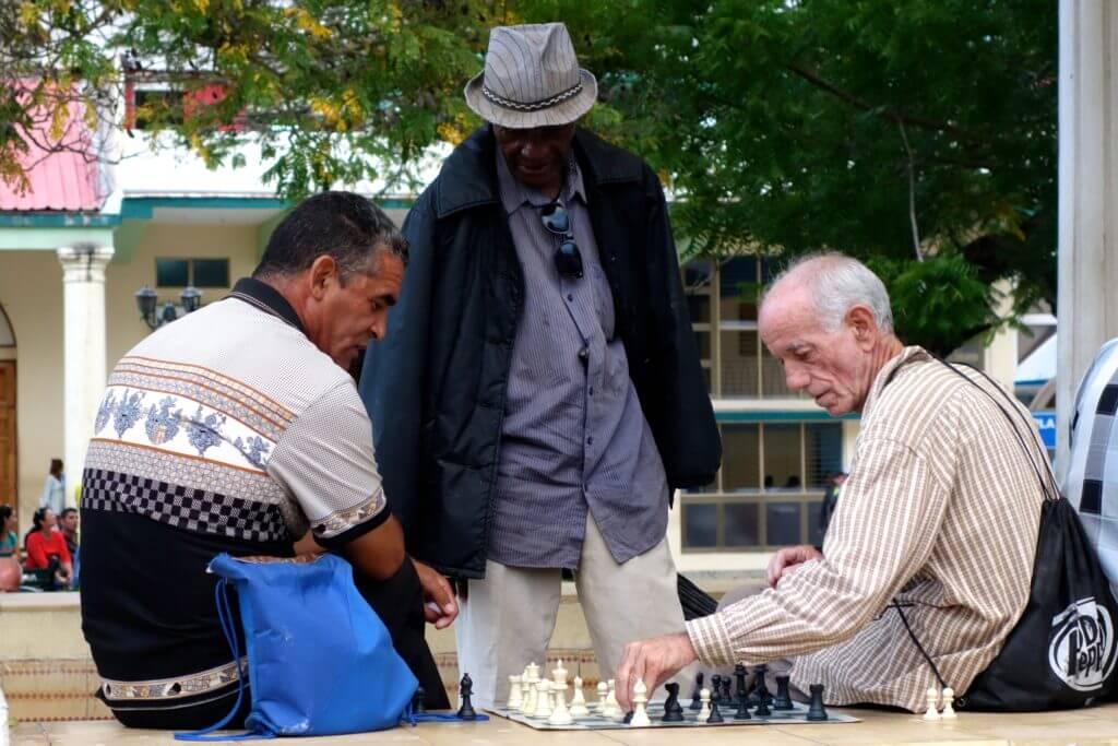 Schachspieler in Holguín