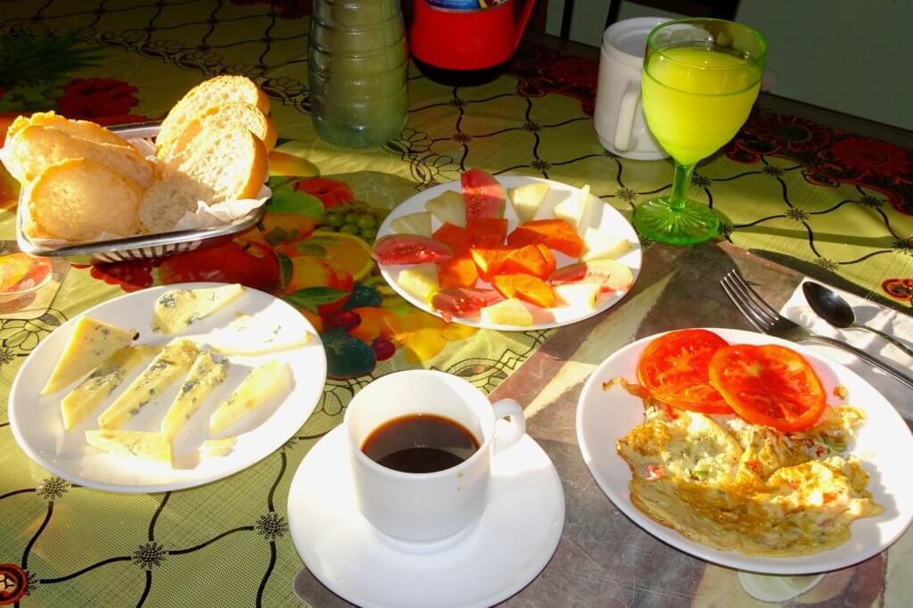 Frühstück in Casa Particular in Kuba