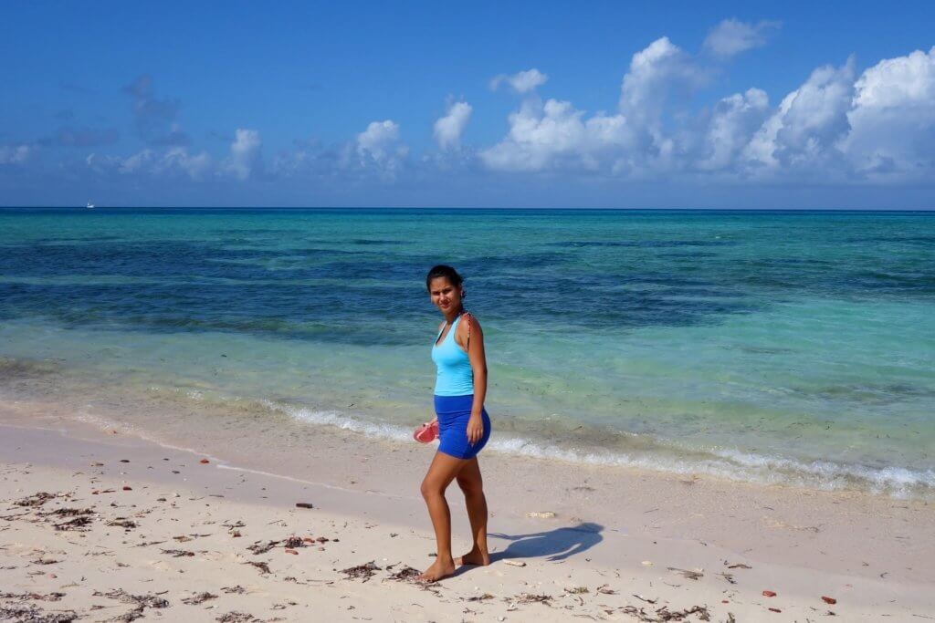 Casa Particular in Guardalavaca, Kuba. Karibischer Strand mit Blick aufs Meer.
