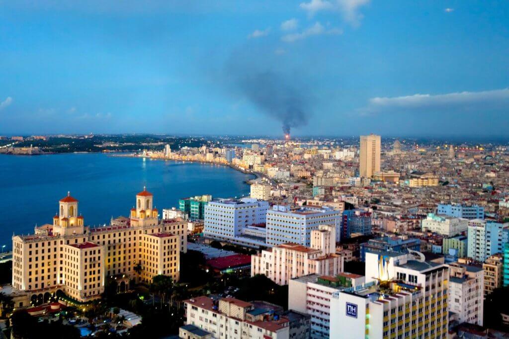 Casa Particular in Havanna, Kuba. Blick vom Edificio Focsa.