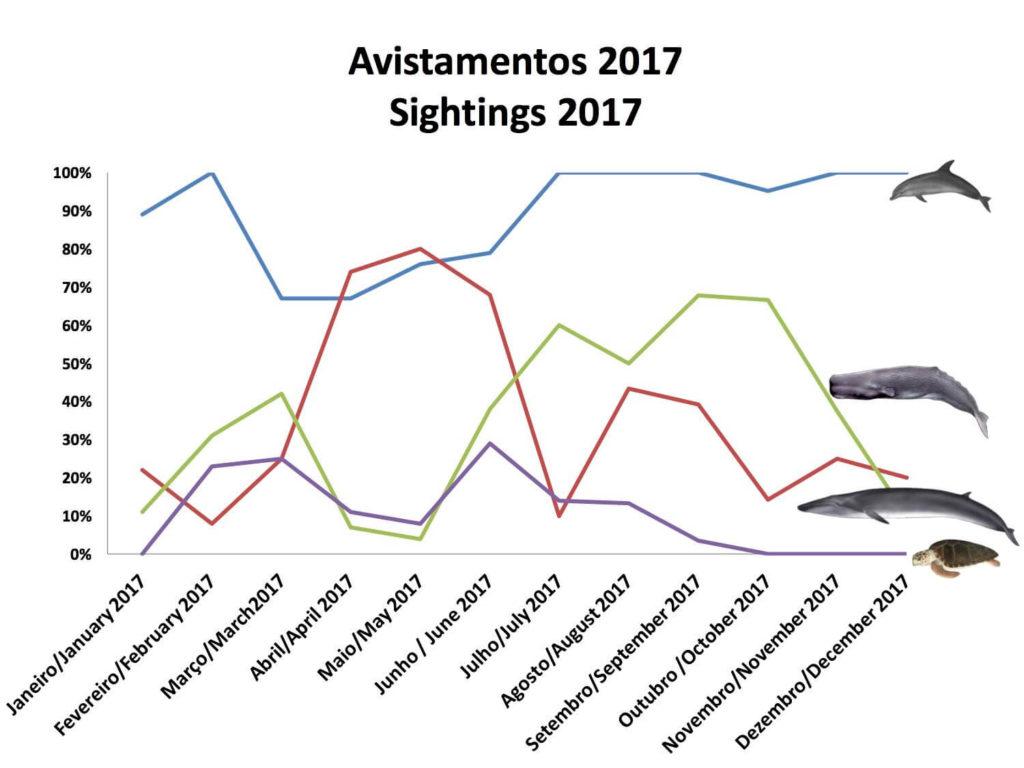 Walsichtungen im Jahr 2017 (© Neide Margarido, Picos de Aventura)