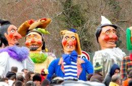 Karneval in Portugal. Grande Corso Carnavalesco Ovar 2018.