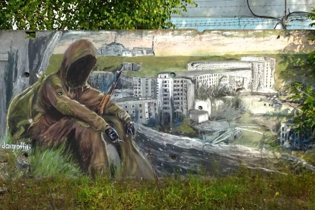 Street Art in Kasan. Gemälde von Damir Daxov.