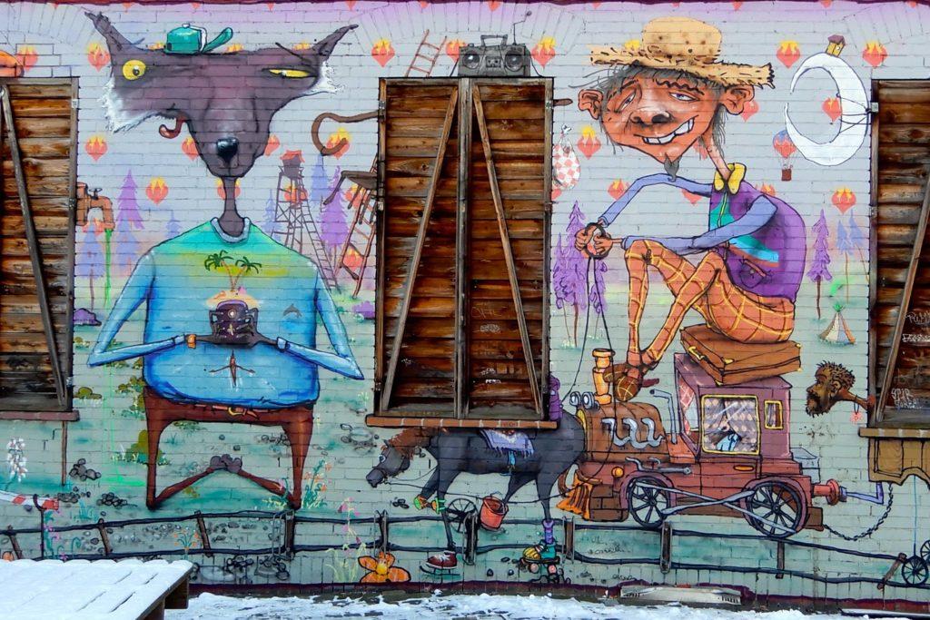 UJZ Glocksee Hannover. Street Art von Olf & Lupin.