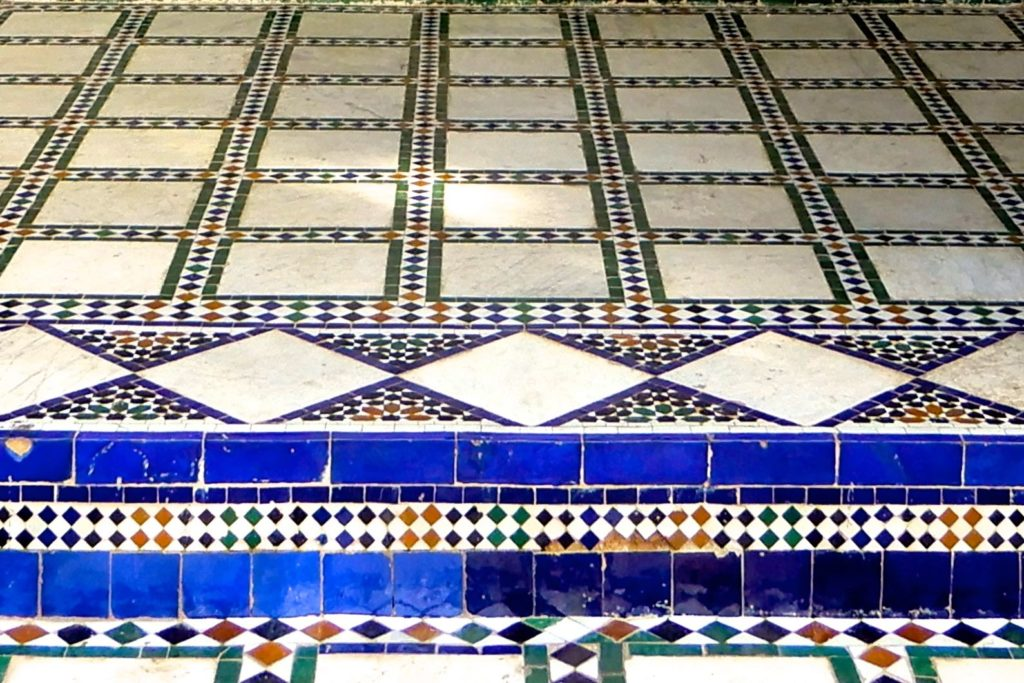 Bahia Palast, Marrakesch. Bunte Details.