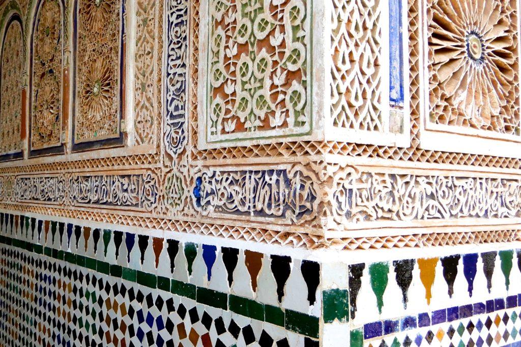 Bahia Palast, Marrakesch. Aufwendig gestaltete Details.