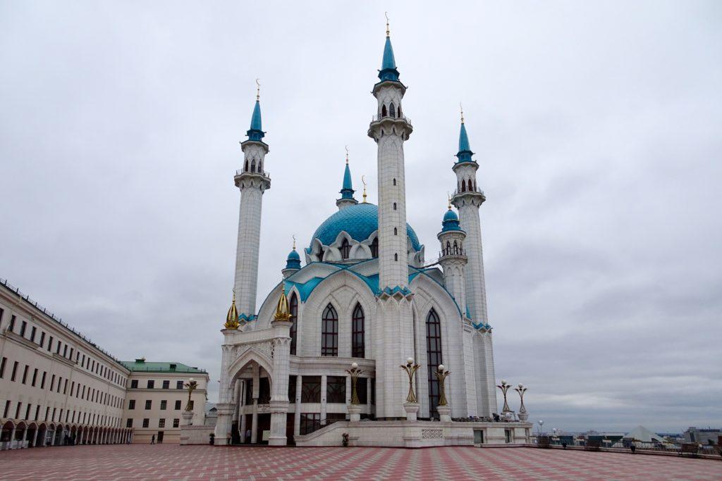 Sportstadt Kasan. Kul-Scharif-Moschee, zweitgrößte Moschee in Russland.