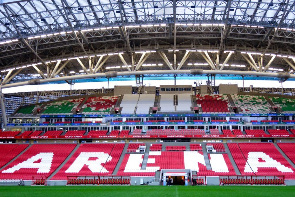 Kasan-Arena, Innenraum des WM-Stadions.