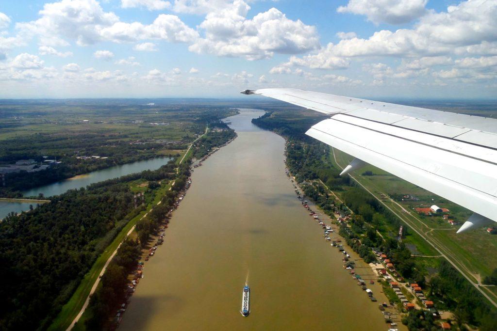 Landeanflug auf Belgrad