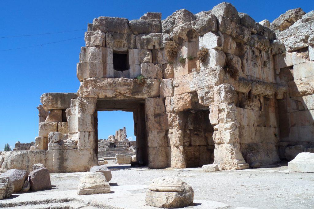 Tempelanlagen in Baalbek, Libanon.