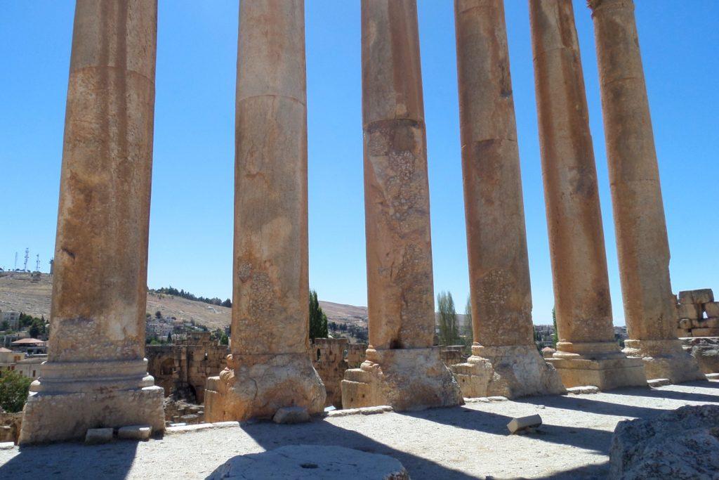 Baalbek, Libanon. Säulen des Jupitertempels.