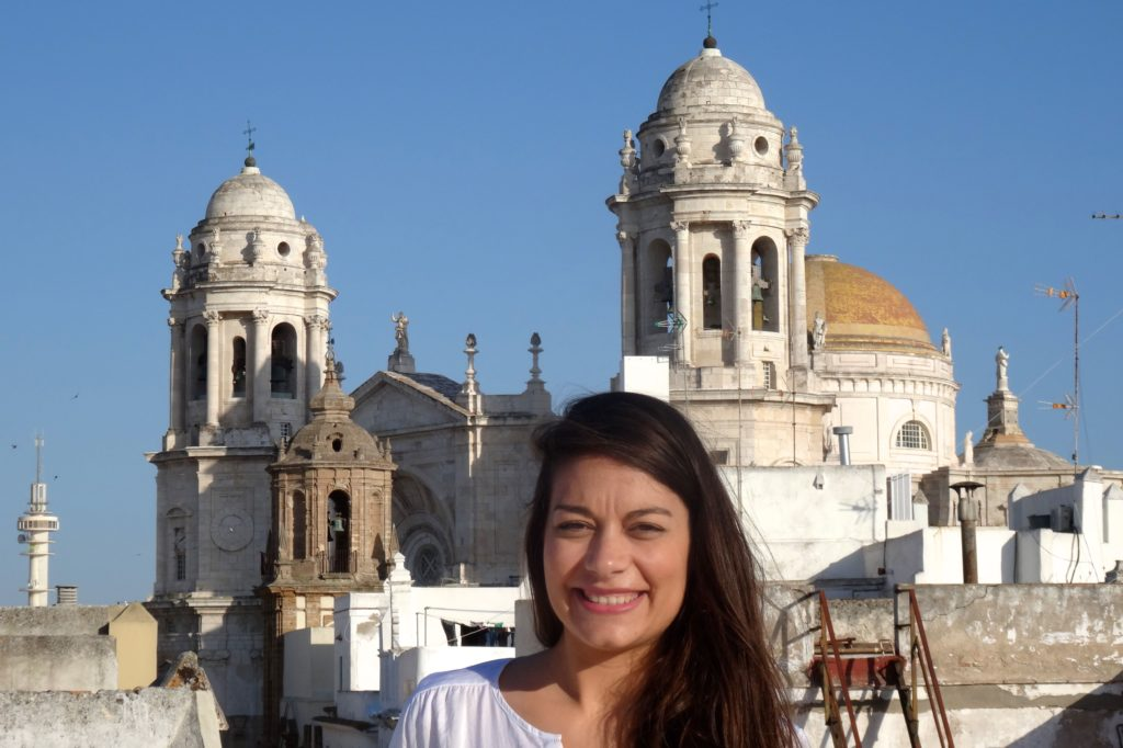 Über den Dächern von Cádiz: im Hintergrund die Kathedrale.