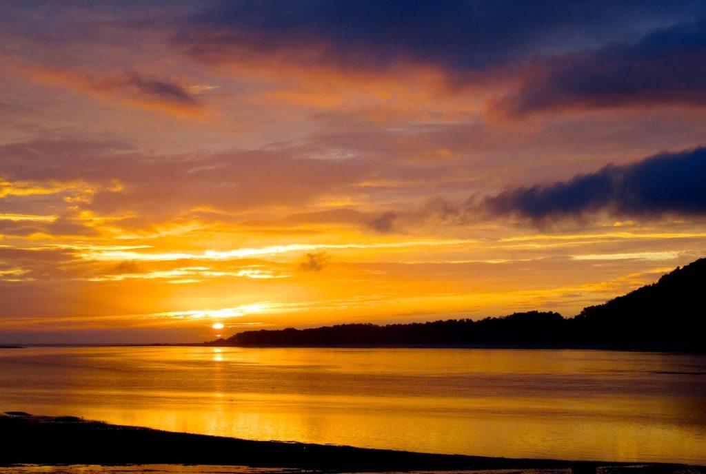 Caminha: Abendstimmung über der Mündung des Minho