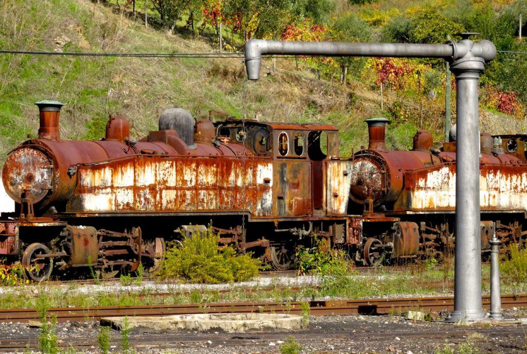 Der Eisenbahnfriedhof von Peso da Régua