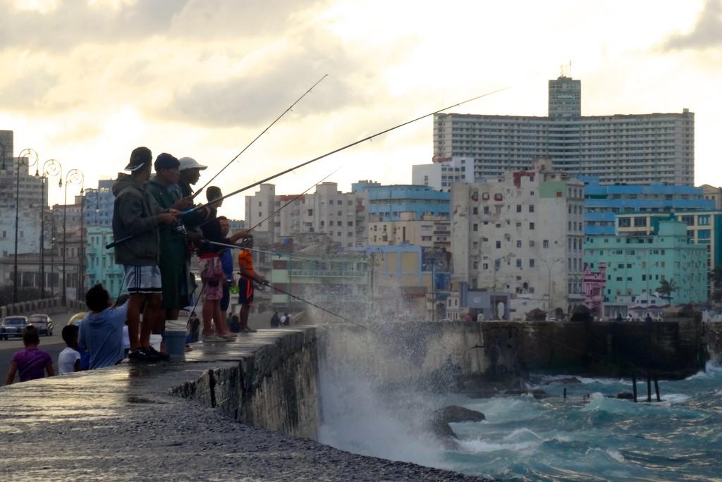 Die Angler vom Malecón