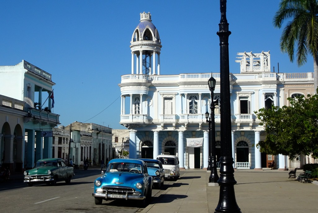 Casa de la Cultura Benjamín Duarte. Eine Treppe führt in die Kuppel hinauf