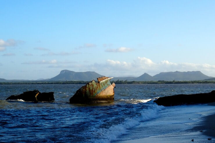 Gibara, Wrack vor der Küste