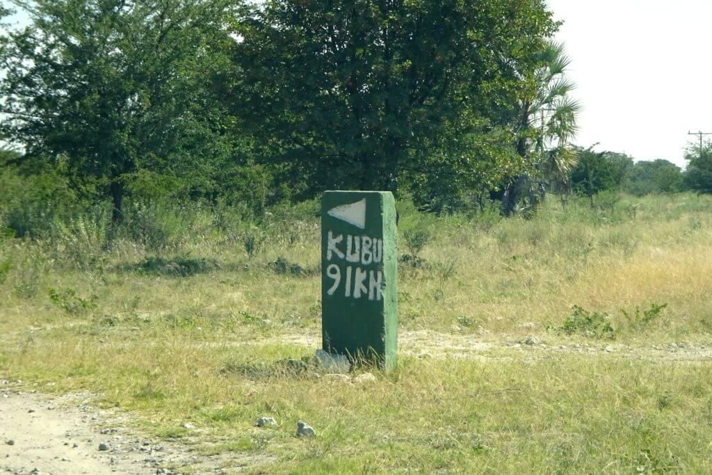 Wegweiser nach Kubu Island