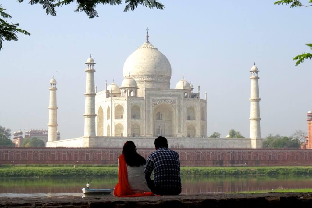 Taj Mahal, Blick von der anderen Seite
