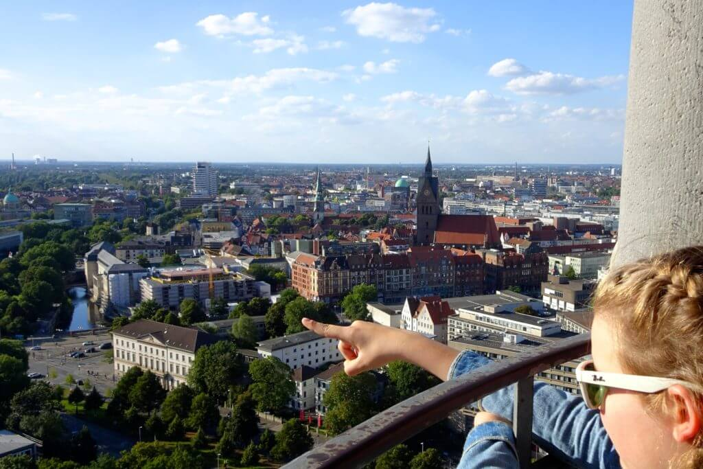 Sehenswürdigkeiten in Hannover, Blick vom Neuen Rathaus