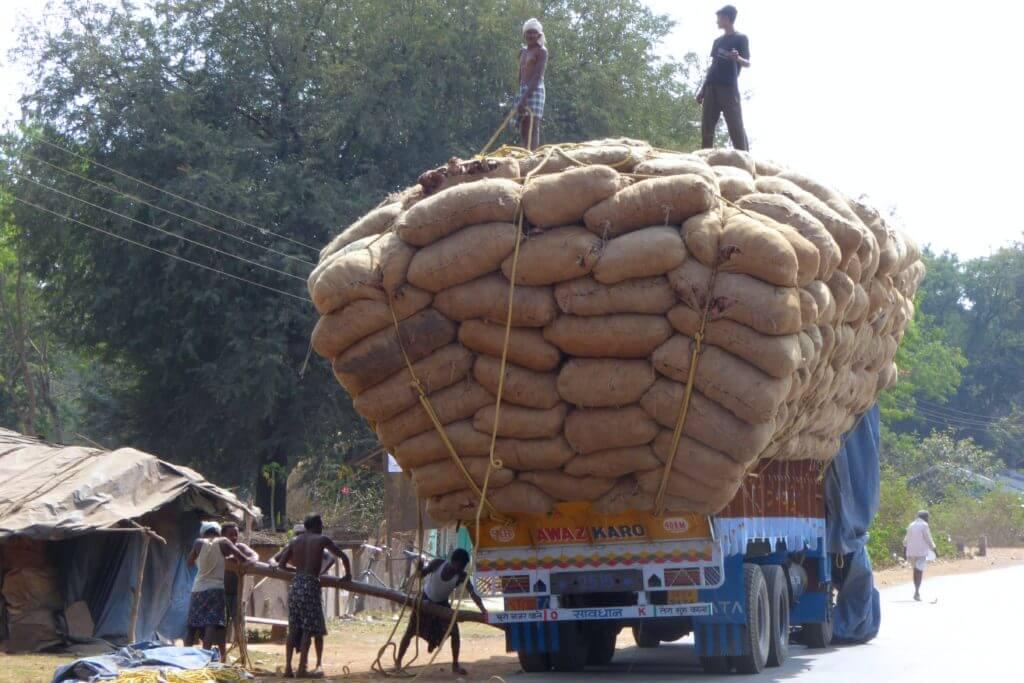 Kultur und Klischees in Indien: Vollbeladener LKW