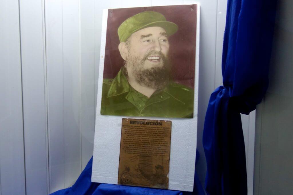 Foto von Fidel Castro in Holguín