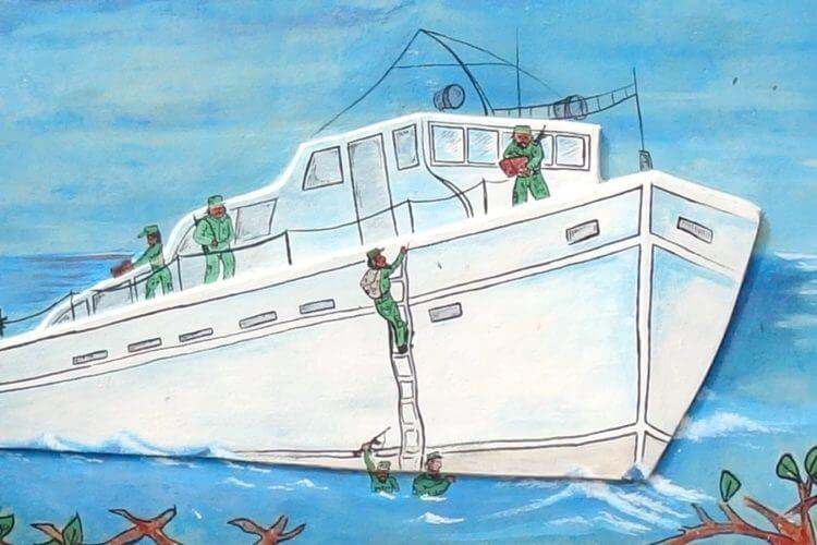 Bild der Granma, Yacht von Fidel Castro