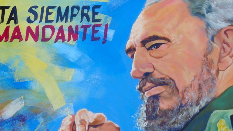 Fidel Castro. Gemälde, gesehen in Guantánamo.