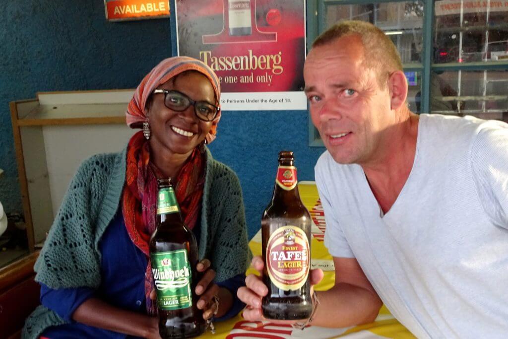 Jahresrückblick Reiseblog Groovy Planet, Bier trinken in Katutura, Windhoek