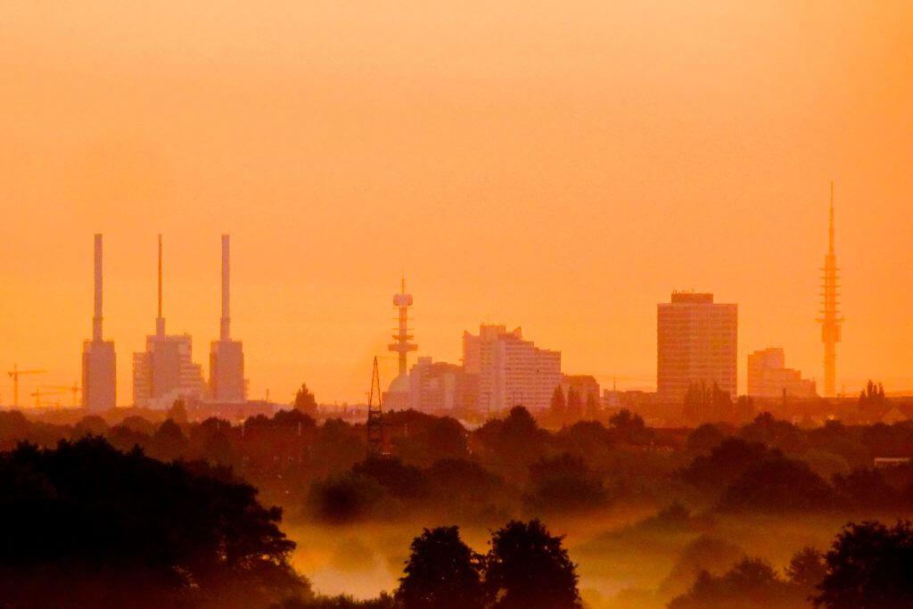 Jahresrückblick Reiseblog Groovy Planet, Morgenstimmung über Hannover