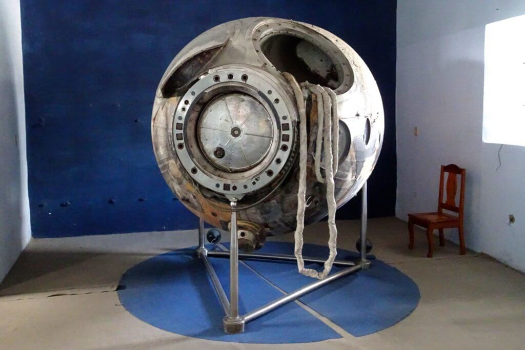 Sowjetische Weltraumkapsel im Museo Provincial von Guantánamo