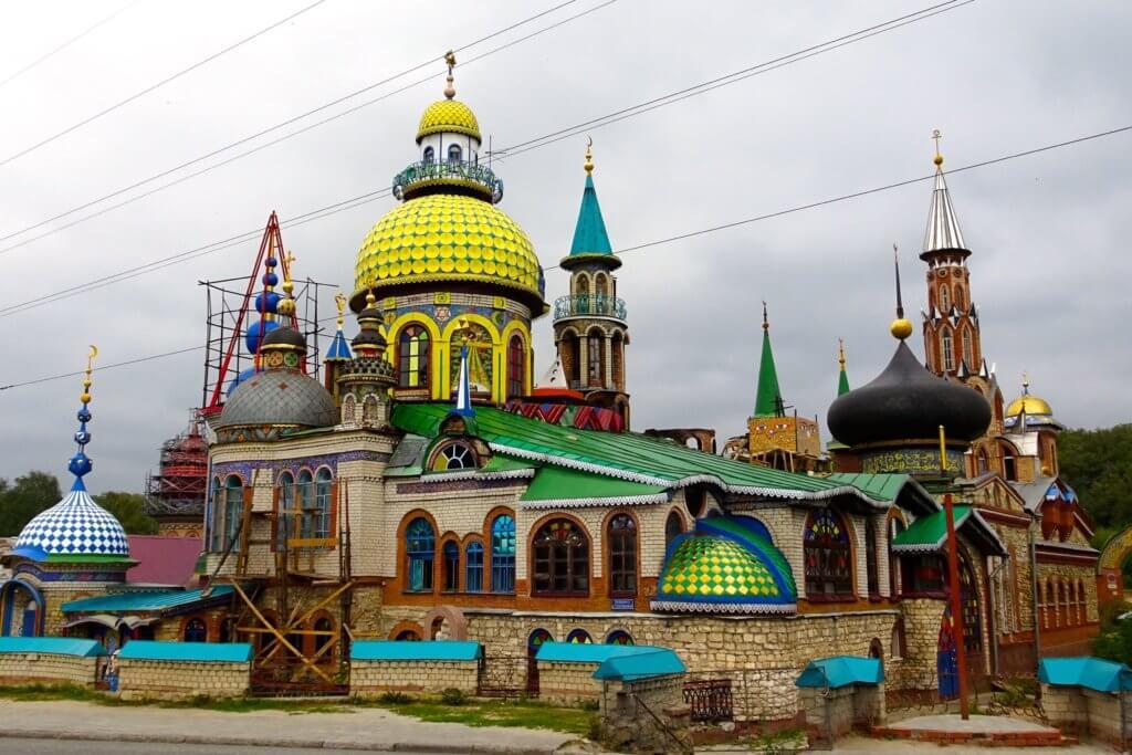 Religion in Tatarstan. Tempel aller Religionen.