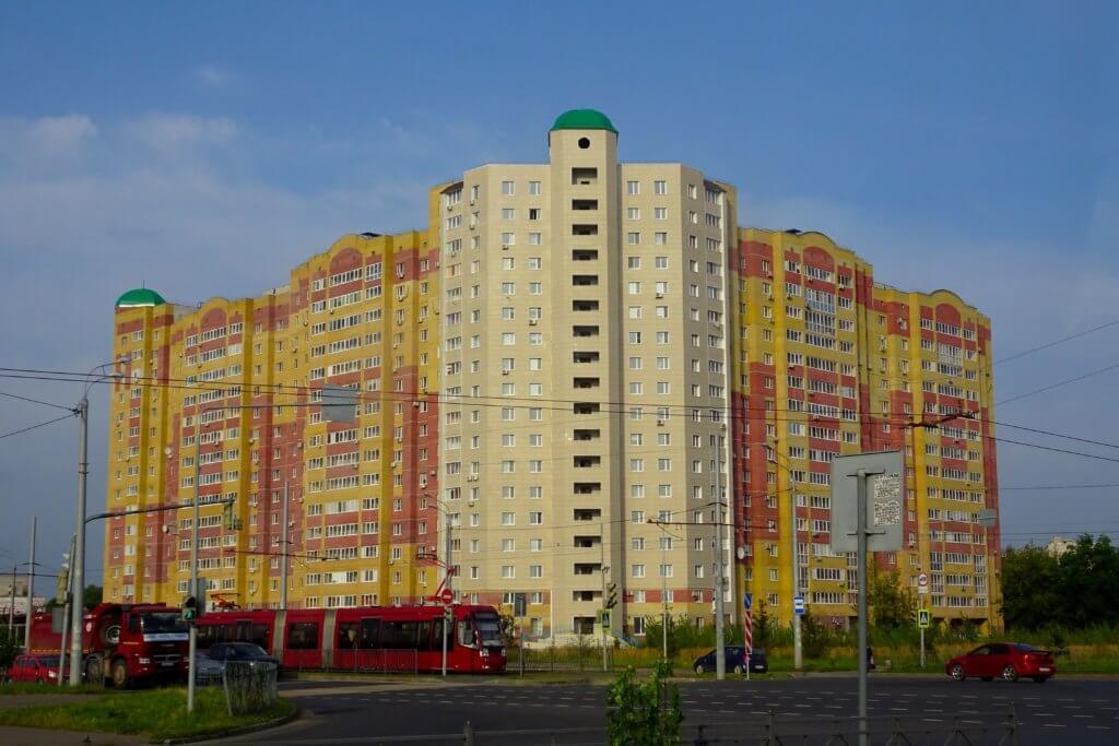 Kasan, Hauptstadt von Tatarstan. Hochhaus am Stadtrand.