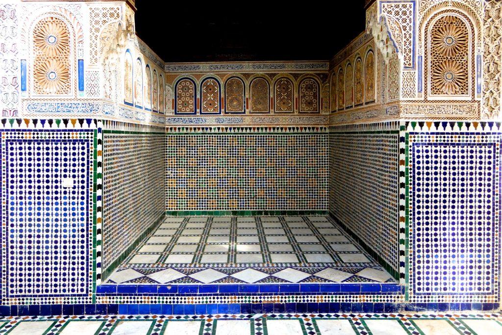 Bahia Palast, Marrakesch. Die besten Kunsthandwerker des Landes waren mit dem Bau des Palastes betraut.