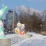 Nanas von Niki de Saint Phalle am Leineufer, Hannover.