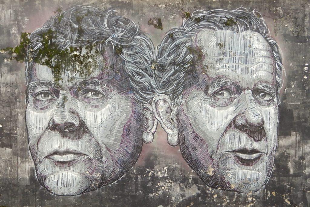 Street Art auf São Miguel, Azoren. Mural von Frederico Draw aus dem Jahr 2013.