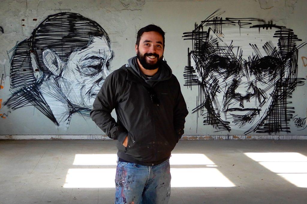 Frederico Draw, Street-Art-Künstler und Visual Artist.