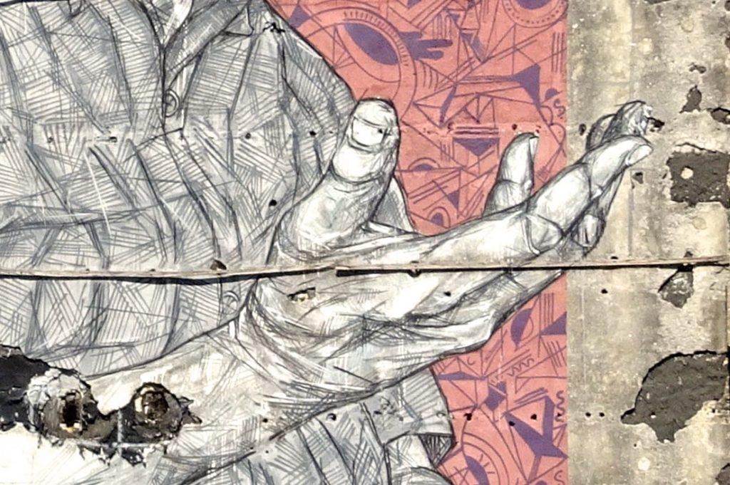 Street Art in Porto. An.fi.tri.ão von Frederico Draw.