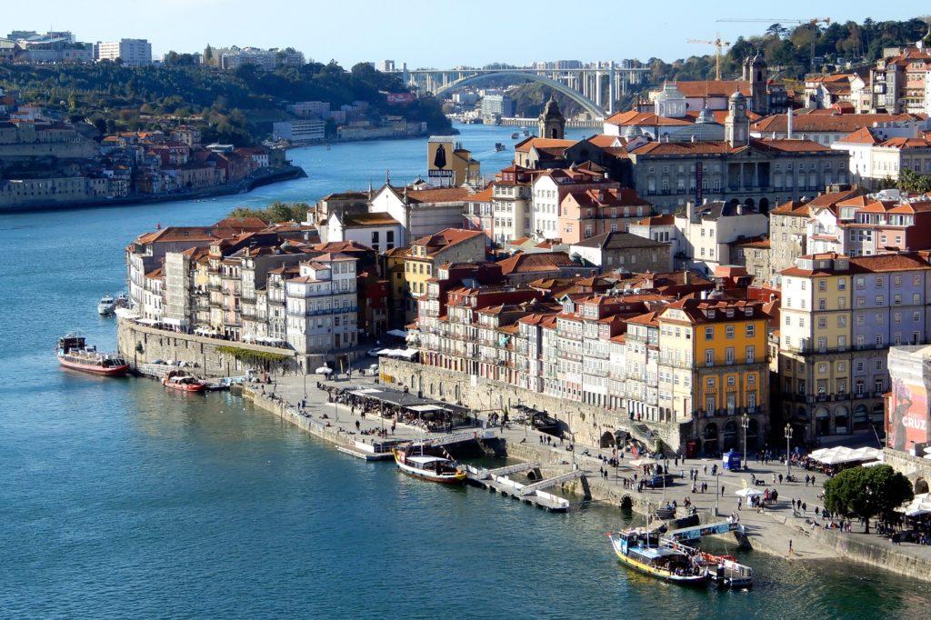 Porto von oben, Blick auf die Altstadt von der Ponte Dom Luís I
