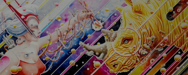 Bild des Hamburger Illustrators und Street-Art-Künstlers Absinth.
