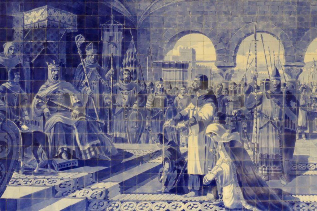 Azulejos in der Estação de São Bento, dem berühmten Bahnhof von Porto.