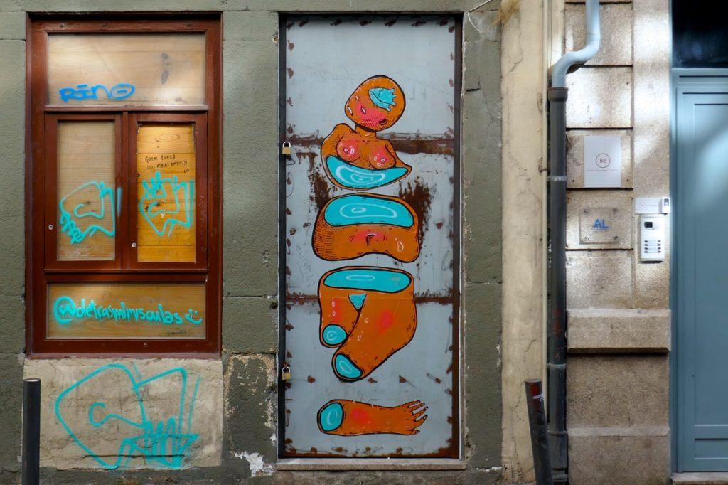 Street Art in Porto von Francisco Fonseca (francis.co), Rua Conde de Vizela.