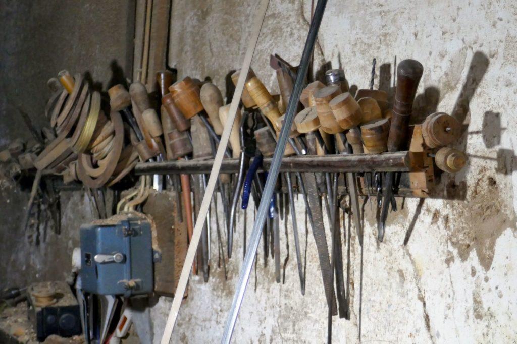 Werkzeug von Artur Oliveira, Drechsler in Porto.